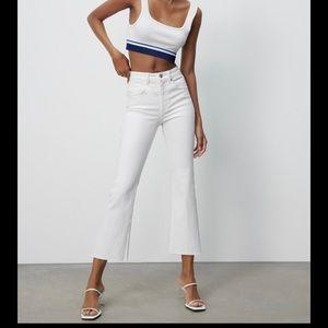Z1975 Flare White Zara Jeans tags on.